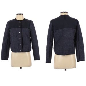 J. Crew Quilted Puffer Jacket Navy Blue Black 4